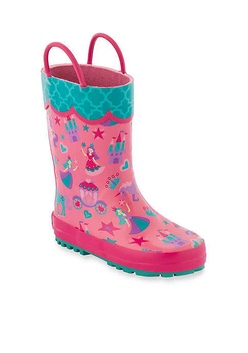 Stephen Joseph All Over Princess Rain Boots Print