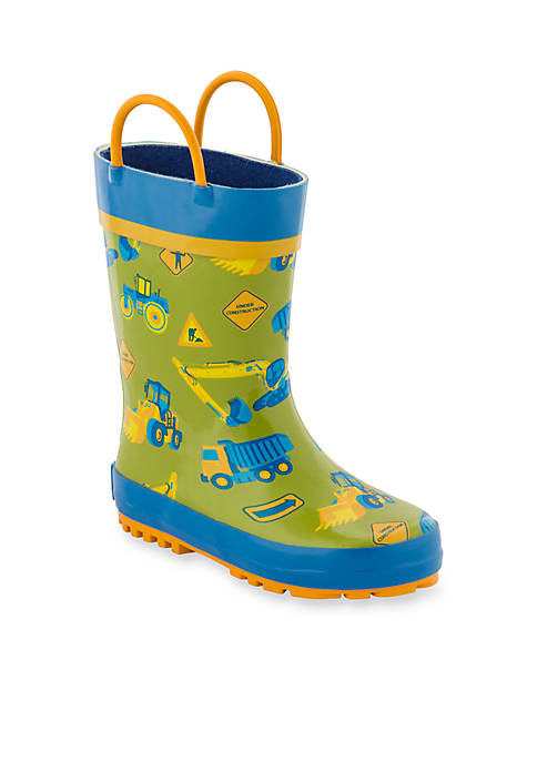 Stephen Joseph AOP Construction Rain Boots Boy Toddler-Youth