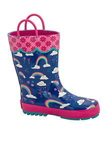 Toddler Girls All Over Print Rainbow Boot