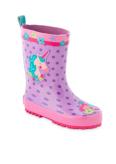 Stephen Joseph Unicorn Rain Boots Toddler Girls