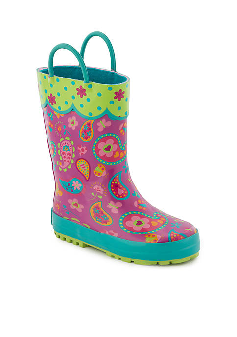 Stephen Joseph All Over Paisley Print Rain Boot
