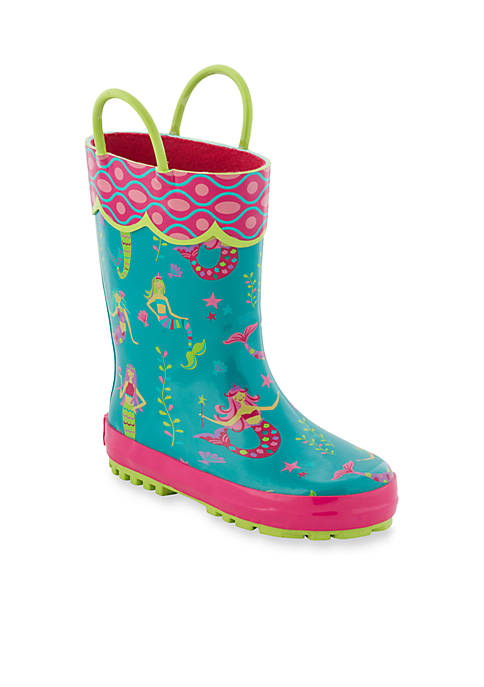 Stephen Joseph Allover Mermaid Print Rain Boot Girl