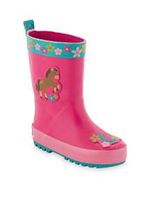 Horse Rain Boots Toddler Girls
