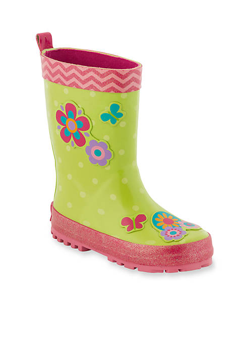 Stephen Joseph Flower Rain Boots Girl Toddler