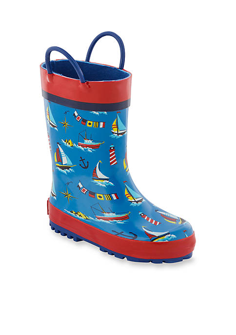 Stephen Joseph All Over Nautical Print Rain Boots