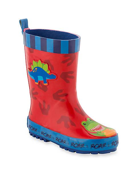Stephen Joseph Dino Rain Boot Boy Toddler