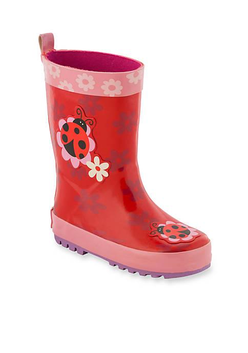 Stephen Joseph Labybug Rain Boot Girl Toddler