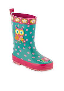 Owl Rainboot Girl Toddler