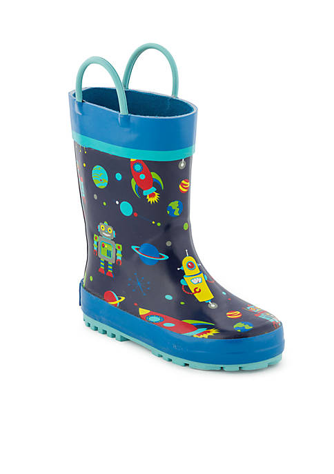 Stephen Joseph Boys Robot Rain Boots- Toddler/Youth