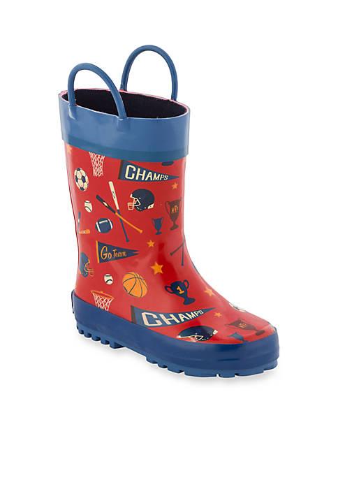 Stephen Joseph All Over Sports Print Rain Boots