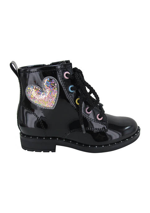 Jellypop Youth Girls Candy Apple Combat Boots