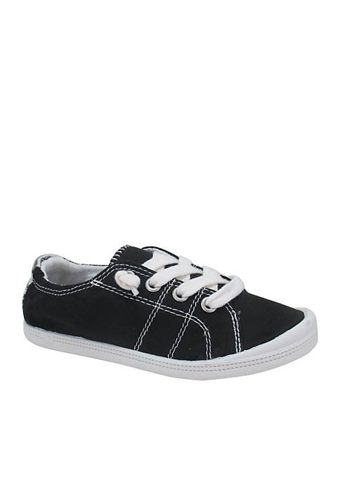 JELLYPOP Girls Lollie Black Canvas Sneaker