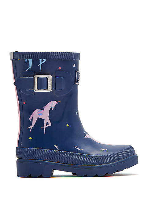 Joules Toddler/ Youth Girls Printed Rain Boots