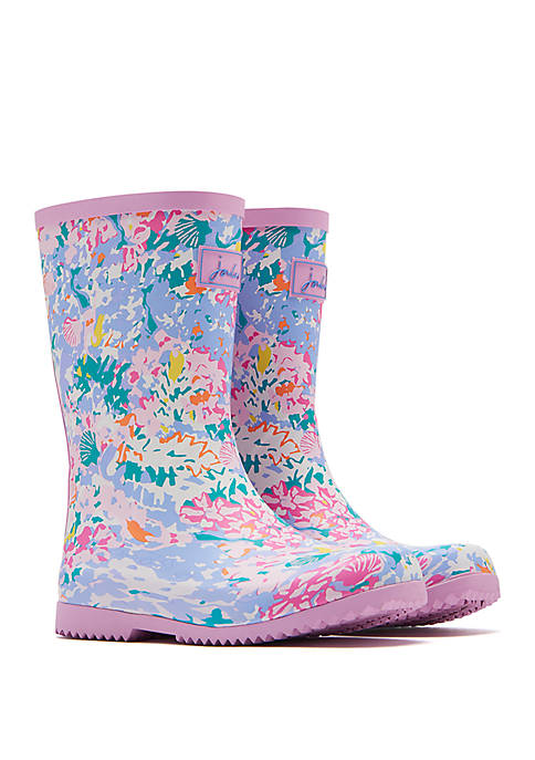 Joules Toddler/ Youth Girls Floral Printed Rain Boots