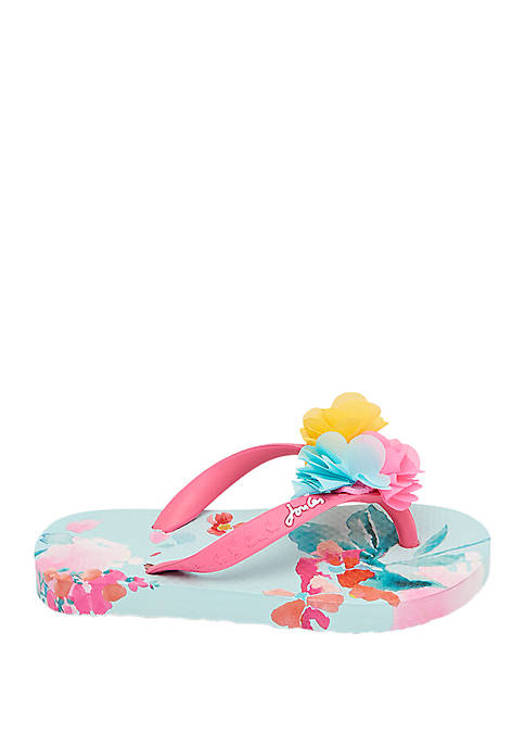 Joules Toddler/Youth Girls Printed Flip Flops