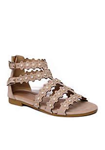 Girls Cindy Studded Gladiator Sandals