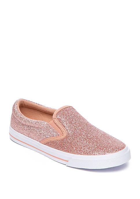 Girls Sparkle Slip On Sneakers