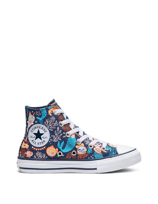 Youth Girls Chuck Taylor All Star Mermaid High Top Sneakers