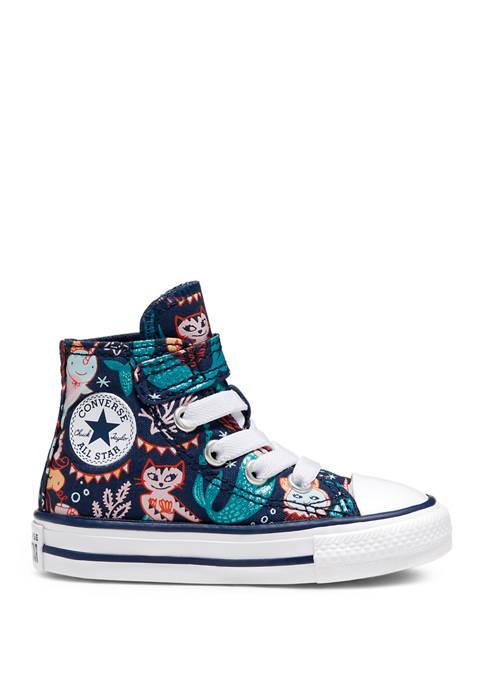 Toddler Girls 4 Mermaid High Top Sneakers