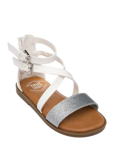TRUE CRAFT Girls Toddler Andrea Glitter Sandals
