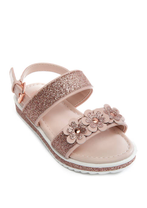 Toddler Girls Bliss Glitter 2 Strap Sandals