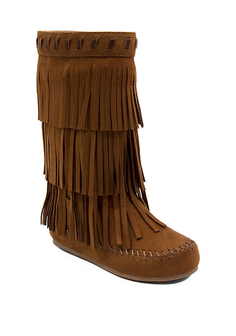 fringe boots girls