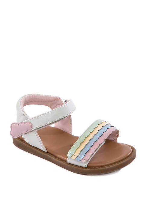 Crown & Ivy™ Toddler Girls Lianne Rainbow Sandals