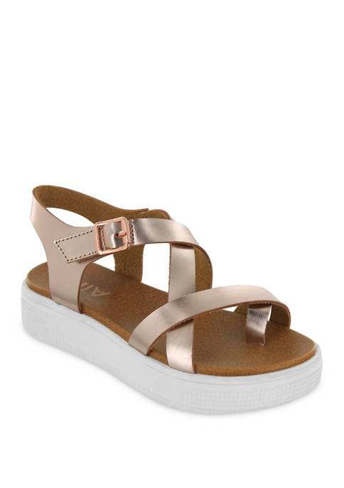 Abril Cross Strap Sandals