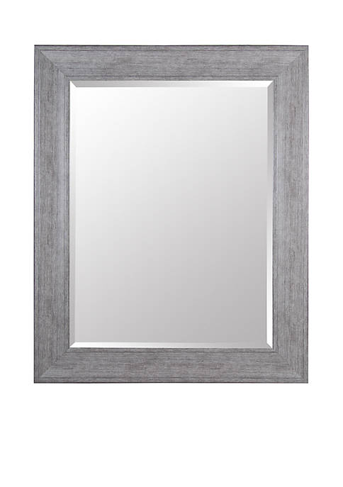 Gallery Solutions Greywash Beveled Mirror
