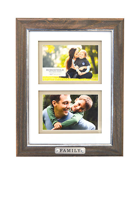 New View Family Double Picture Frame