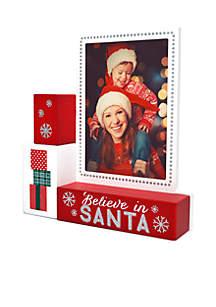 Believe in Santa Stacked Frame