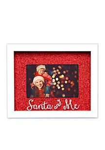 Santa & Me Glitter Shadowbox Frame