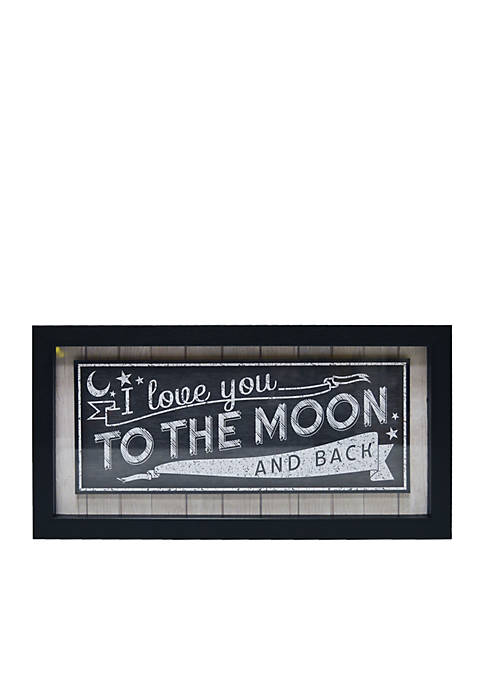 I Love You To The Moon And Back Shadow Box