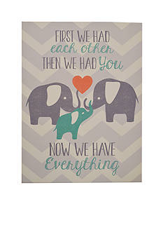 New View Now We Have Everything Baby Plaque