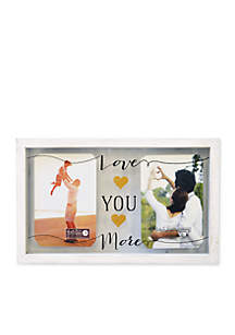 New View Love You More Glass 4x6 Frame