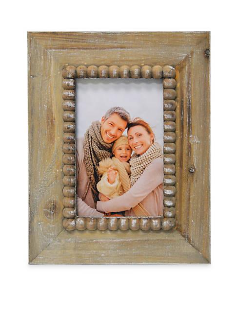 New View Beaded Graywash 4x6 Frame