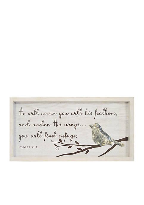 Bird Psalm Plaque