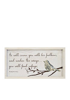New View Bird Psalm Plaque