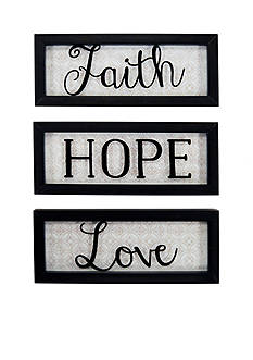 New View Faith, Hope, Love Divided Sign