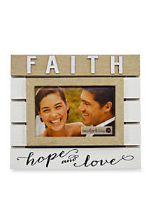 New View Faith Hope And Love 4x6 Plank Frame Belk