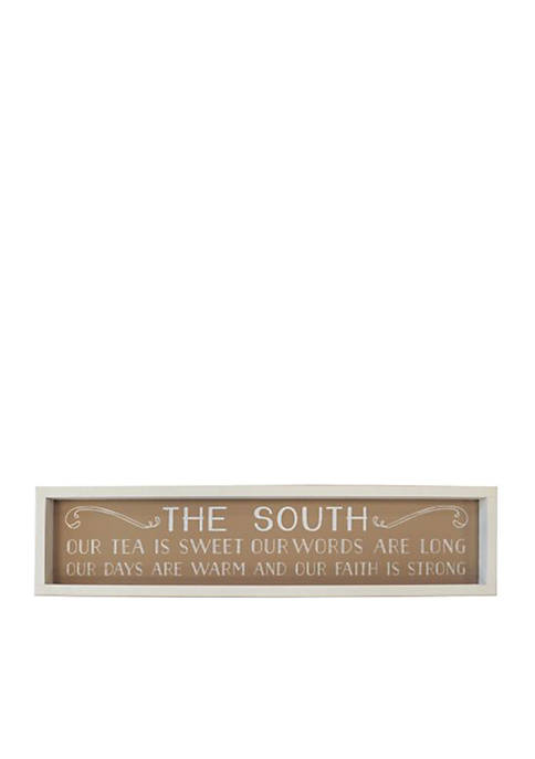 New View In the South Barnwood Box Sign