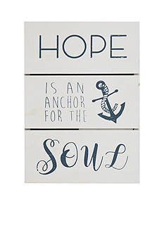 New View Hope Is An Anchor Plaque