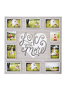 'Love You More' Collage Frame