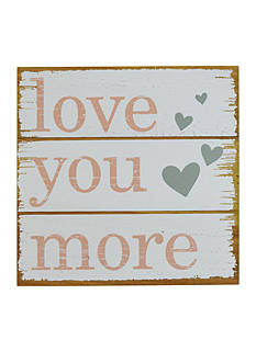 New View Love You More Plaque