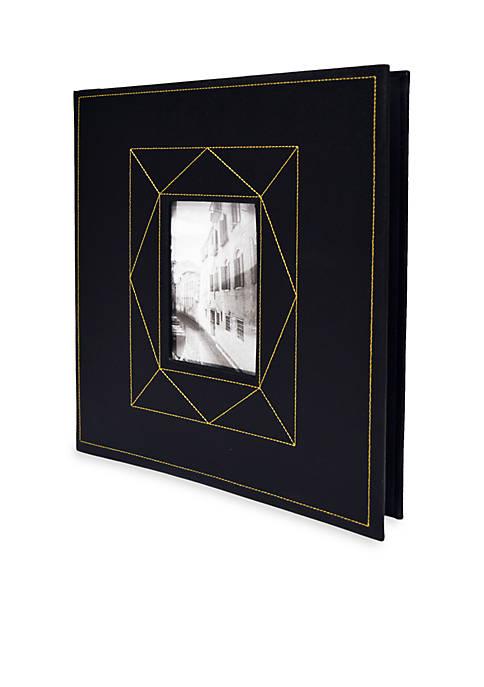 Black Picture Front 5-Up Photo Album