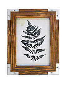 Reclaimed Plankwood Frame with Silver Corners