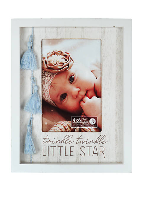New View 7-Inch x 9-Inch Twinkle Tassel Frame