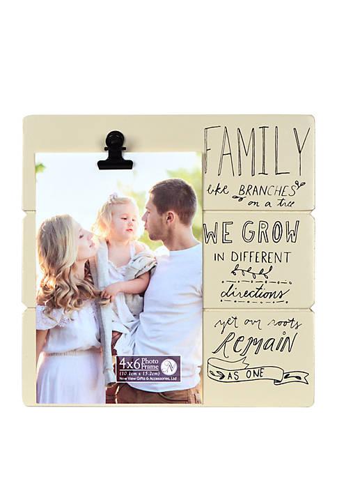 9 in x 9 in Shiplap Sentiment Clip Frame- Family