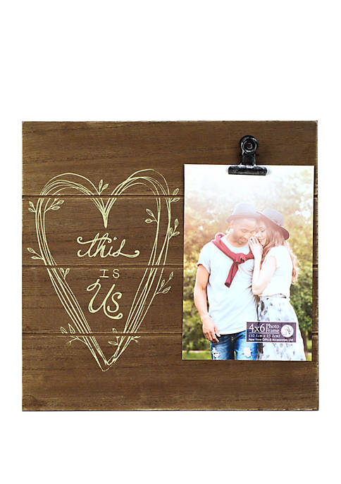 9 in x 9 in Shiplap Sentiment Clip Frame- This Is Us