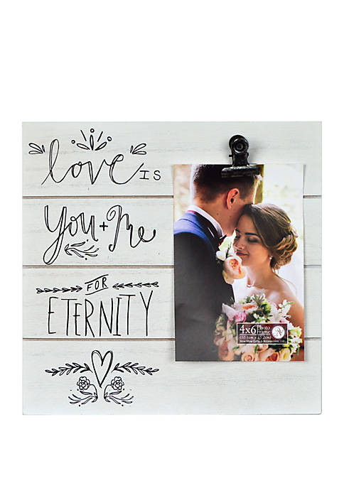 9 in x 9 in Shiplap Sentiment Clip Frame- Love Is You and Me